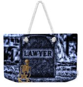 Midnight In The Graveyard With A Lawyer Weekender Tote Bag