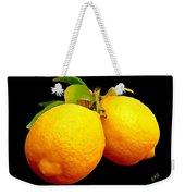 Midnight Lemons Weekender Tote Bag