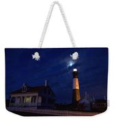 Midnight Moon Over Tybee Island Weekender Tote Bag