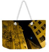 Midnight Roman Facades In Yellow  Weekender Tote Bag