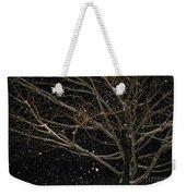 Midnight Snow Weekender Tote Bag