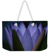 Midnight Water Lily Weekender Tote Bag