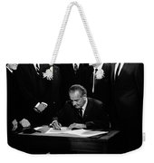 Mightier Than The Sword Weekender Tote Bag by Benjamin Yeager