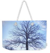 Mighty Oak In Winter Weekender Tote Bag