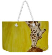 Mika And Giraffe Weekender Tote Bag