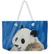 Mika And Panda Weekender Tote Bag