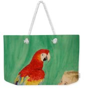 Mika And Parrot Weekender Tote Bag