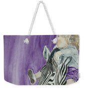 Mika And Zebra Weekender Tote Bag