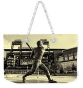 Mike Schmidt At Bat Weekender Tote Bag by Bill Cannon