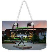 Mike Schmidt Statue At Dawn Weekender Tote Bag by Bill Cannon