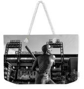 Mike Schmidt Statue In Black And White Weekender Tote Bag by Bill Cannon