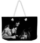 Mike Somerville And John Schlitt Of Head East Weekender Tote Bag