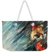Miki Self Portrait With Driver Weekender Tote Bag