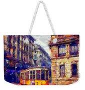 Milan Tram Weekender Tote Bag