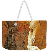 Mile-long Canyon Leads Through 600 Foot Deep Gorge To The Treasury In Petra-jordan Weekender Tote Bag