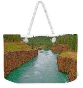 Miles Canyon In Whitehorse-yt Weekender Tote Bag