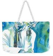 Miles Davis Watercolor Portrait.3 Weekender Tote Bag
