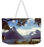 Milford Sound In New Zealand's Fiordland National Park Weekender Tote Bag
