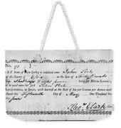 Military Due Bill, 1784 Weekender Tote Bag