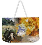 Military Flame Thrower Photo Art 02 Weekender Tote Bag