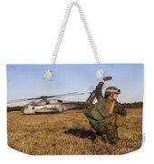 Military Policeman Signals To The Other Weekender Tote Bag
