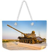 Military Tank Outdoor Installation View Weekender Tote Bag