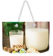 Milk And Cookies Weekender Tote Bag by Edward Fielding