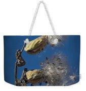 Milkweed Pods On A Blue Background  Weekender Tote Bag
