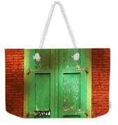 Mill Door In Dappled Sunlight Weekender Tote Bag
