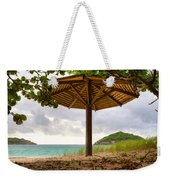 Mill Reef Beach Hut Weekender Tote Bag