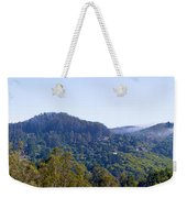 Mill Valley Ca Hills With Fog Coming In Left Panel Weekender Tote Bag