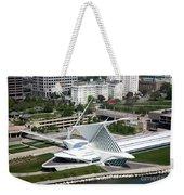 Milwaukee Art Museum Aerial Weekender Tote Bag