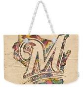 Milwaukee Brewers Poster Art Weekender Tote Bag