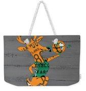 Milwaukee Bucks Basketball Team Logo Vintage Recycled Wisconsin License Plate Art Weekender Tote Bag