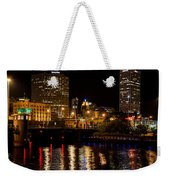 Milwaukee River And Downtown Skyline Weekender Tote Bag