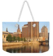 Milwaukee River Theater District 4 Weekender Tote Bag