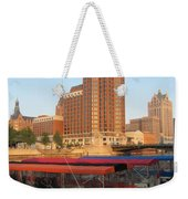 Milwaukee River Theater District 5 Weekender Tote Bag
