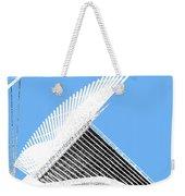 Milwaukee Skyline Art Museum - Light Blue Weekender Tote Bag