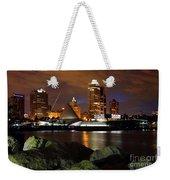Milwaukee Skyline At Dusk Weekender Tote Bag