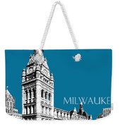 Milwaukee Skyline City Hall - Steel Weekender Tote Bag