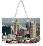 Milwaukee Wisconsin Skyline Aerial Weekender Tote Bag