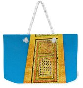 Minaret For Call To Prayer In Tangiers-morocco Weekender Tote Bag