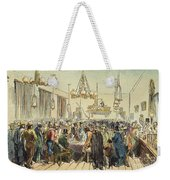 Miners In Saloon, 1852 Weekender Tote Bag