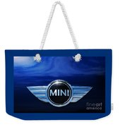 Mini Blue Weekender Tote Bag