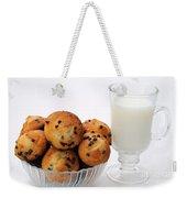 Mini Chocolate Chip Muffins And Milk - Bakery - Snack - Dairy - 1 Weekender Tote Bag