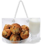 Mini Chocolate Chip Muffins And Milk - Bakery - Snack - Dairy - 2 Weekender Tote Bag