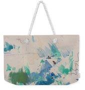 Minimal Blue Weekender Tote Bag