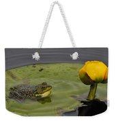 Mink Frog On Lilypad  Weekender Tote Bag