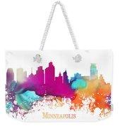 Minneapolis City Colored Skyline Weekender Tote Bag