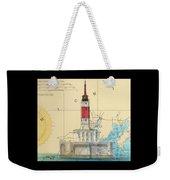 Minneapolis Shoals Lighthouse Mi Nautical Chart Map Art Weekender Tote Bag